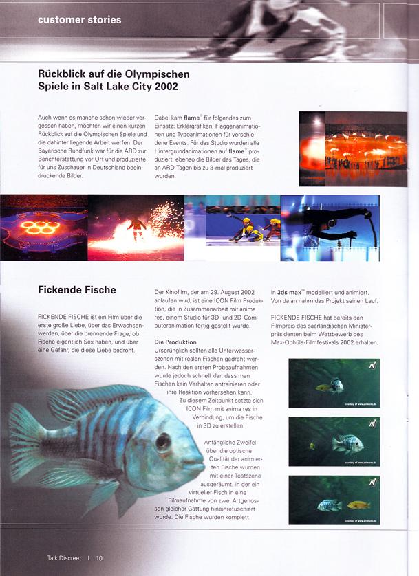 Profile - Publications / ANIMA RES - Studio for 3D Computeranimation
